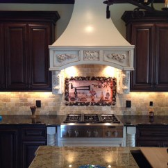 Kitchen Backsplash Murals Freestanding Cabinet Olives Tile Mural Of Olive Garden Landscape
