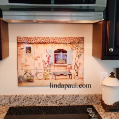 French Country Kitchen Designs Corner Booth Seating Backsplash - Tiles, Wall Murals