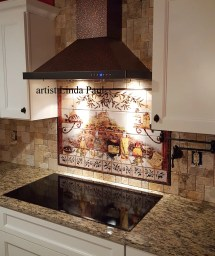 Wall Murals Tuscan Kitchen Tile Backsplash Vtwctr