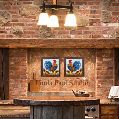Rooster Kitchen Decor Remodeling Your - Framed Wall Art Or Backsplash Tile For