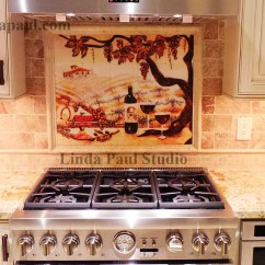 Chair Rail Designs Ideas Small Bedroom Tub The Vineyard Tile Murals - Tuscan Wine Tiles Kitchen Backsplashes