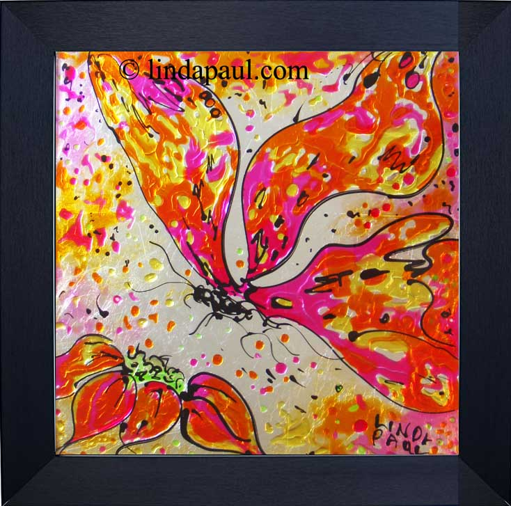 abstract butterfly original framed