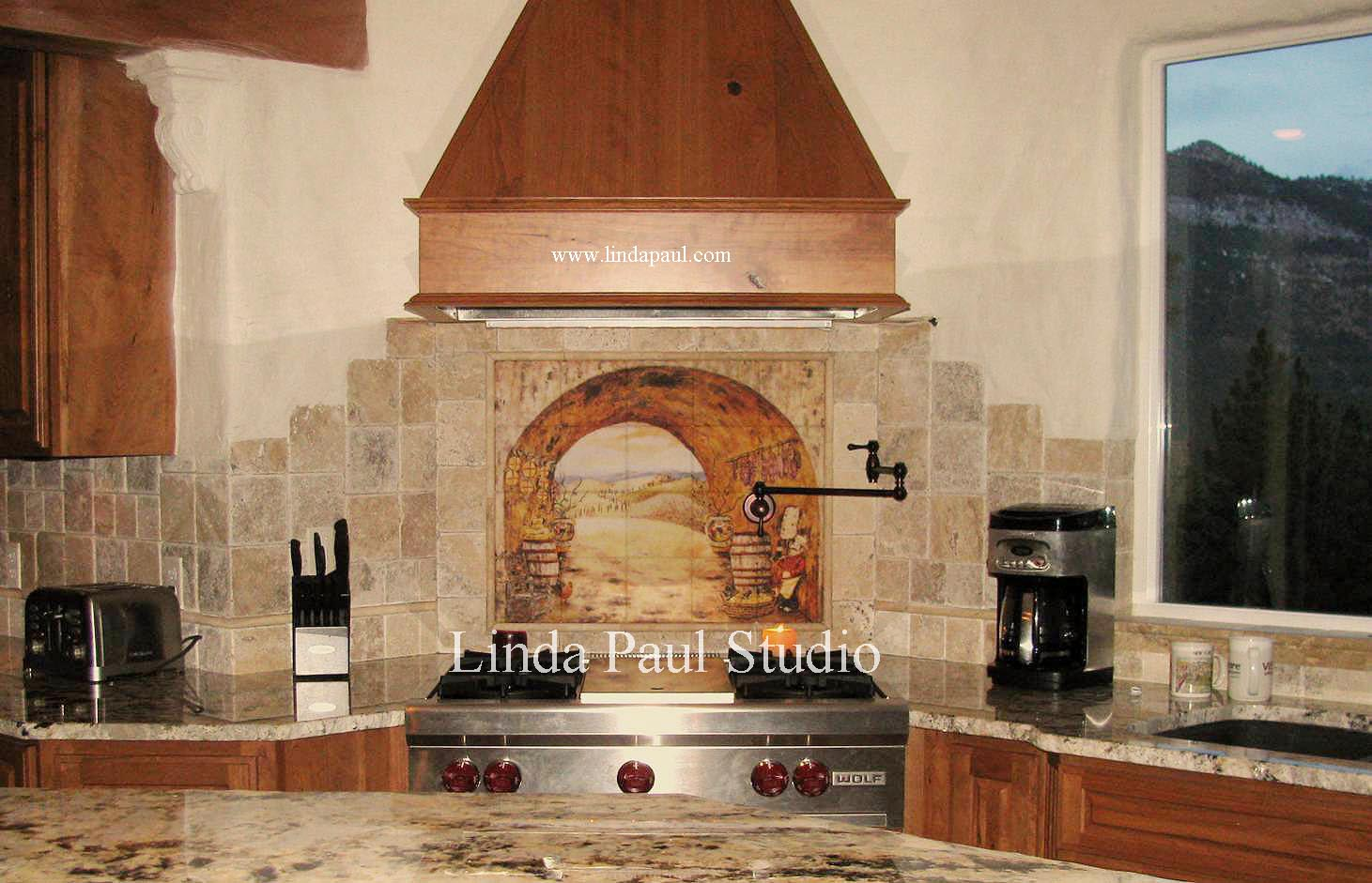 kitchen backsplash murals cool faucets tuscan tile wall tiles backsplashes