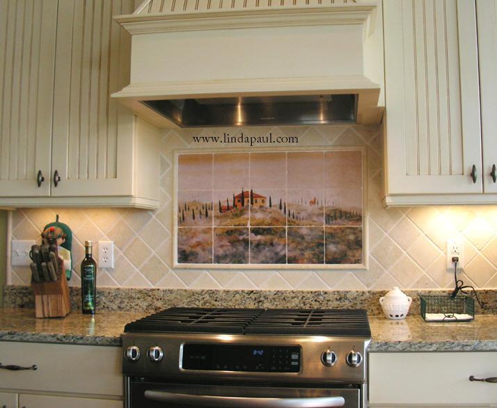 Tuscan Tile Murals  Kitchen Backsplashes  Tuscany Art Tiles