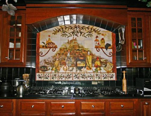Kitchen Backsplash Art