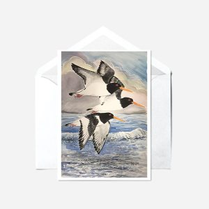 Puffins - watercolour painting