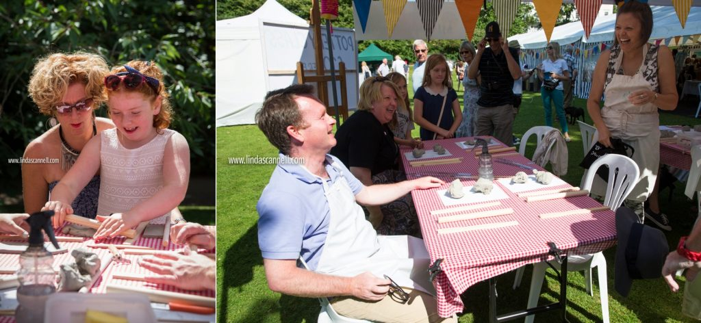 Big pottery throw down with Chris White MP and Jo Cameron | Art in the Park 2016 | Leamington Spa