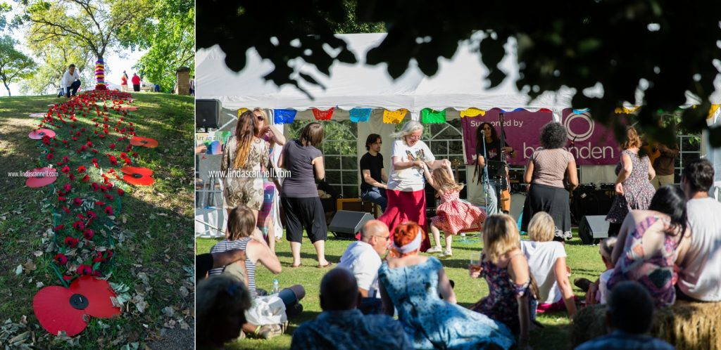 Poppy Appeal | Crowd dancing | Art in the Park 2016 | Leamington Spa