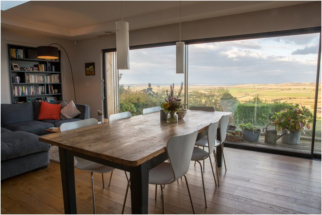 Living room with a fabulous Warwickshire view | Property photography by Linda Scannell