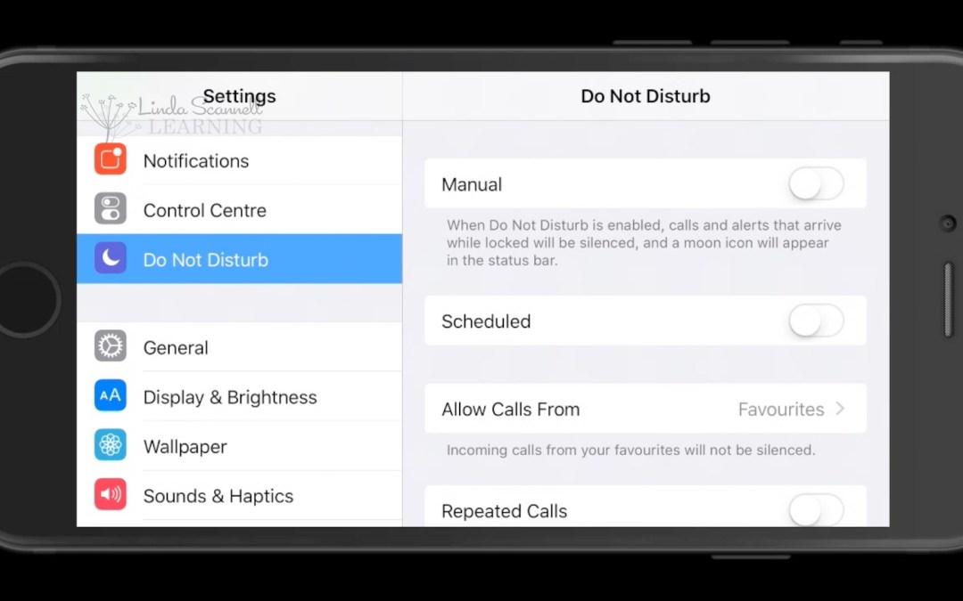 iPhone Do Not Disturb Mode