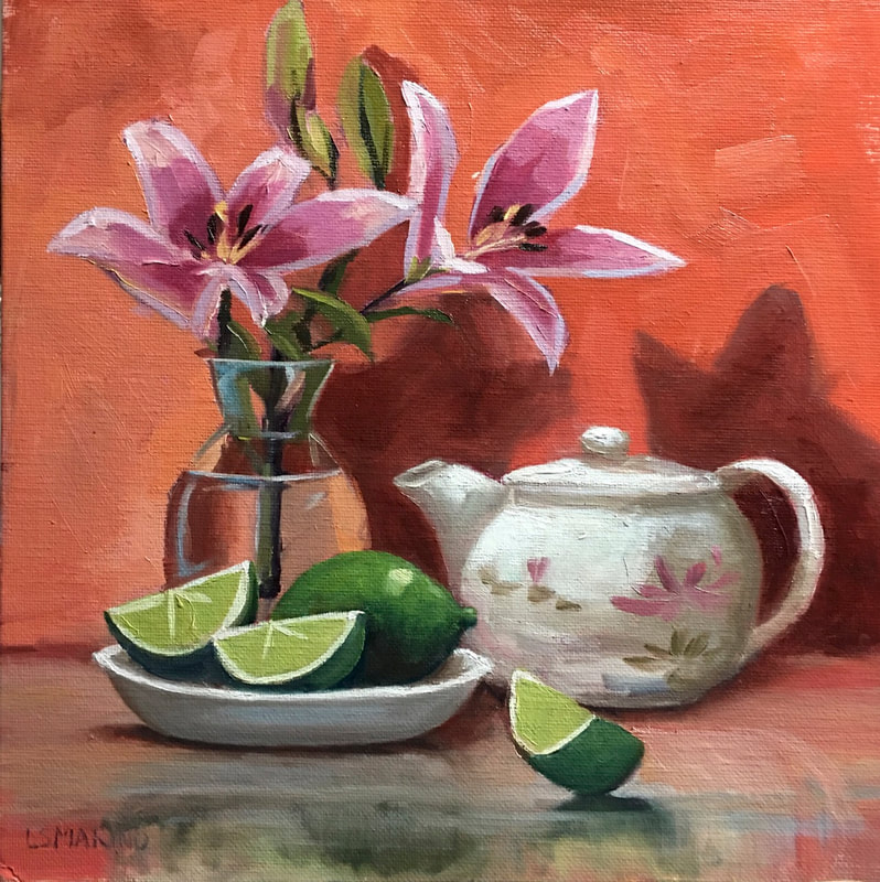 pink lilies limes and
