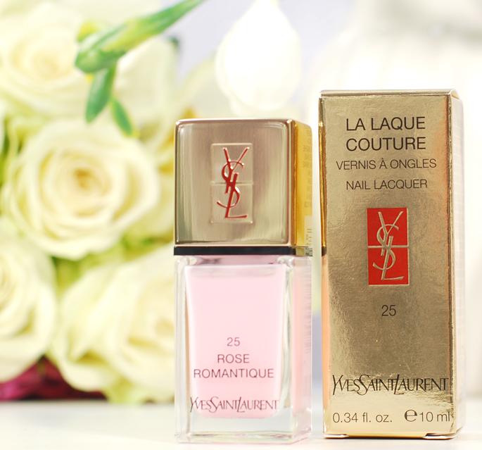 Yves Saint  Laurent 25 La Laque Couture Vernis a ongles nail lacquer YSL high end beauty nagellak bol.com vouchercloud lifestyle by linda make-up goud roze 25 rose romantique review swatch nailart