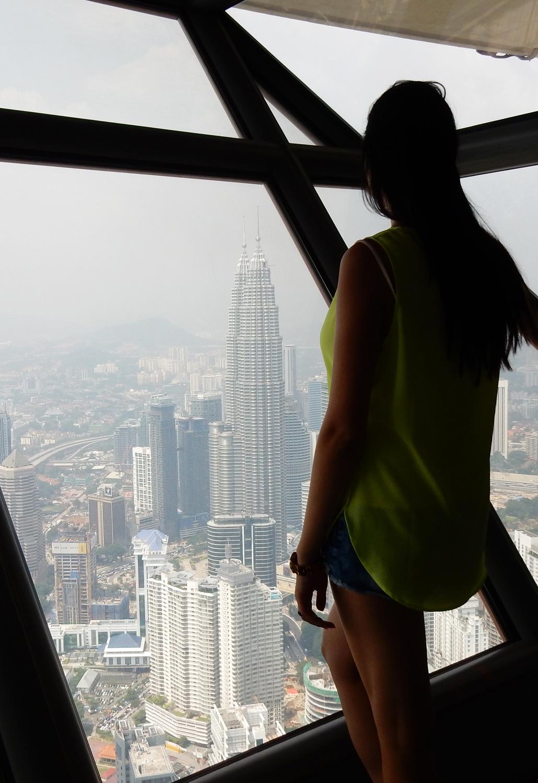 petronas towers kuala lumpur twin towers Menara KL Tower in Kuala Lumpur view panorama deck