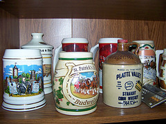 beer steins on a shelf Good Feng Shui?