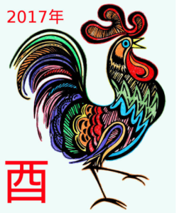 2017  Chinese Horoscope – Year of the Fire Rooster