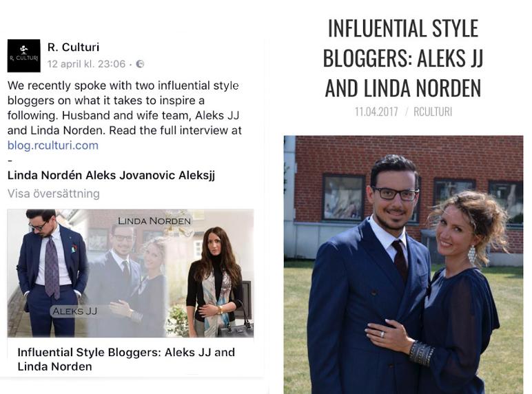 3735405ed3c3e6 Feature  Influential style bloggers Aleks JJ   Linda Nordén - Lindaz ...