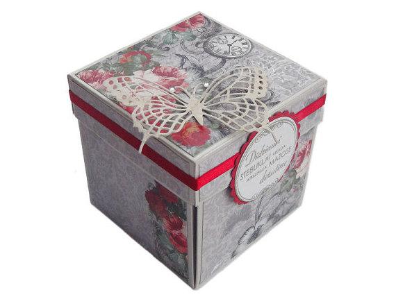 Wedding Invitation Gift Box Explode Invite