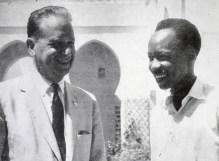 Dag Hammarskjöd och Julius Nyererer i Dae es Salaam1959