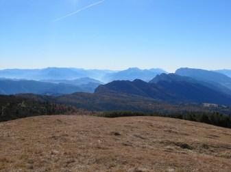 Ausblick nach Süden - Etschtal, Val di Non, Paganella, Gardasee