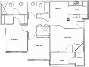 2 Bed / 2 Bath / Rent From: $1445