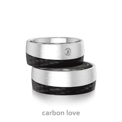 Ehering edelstahl carbon  Modeschmuck