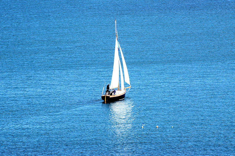 Sailing boat Coverack Bay