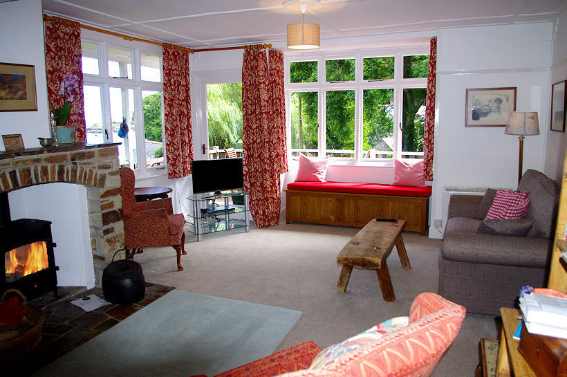 Curlew Cornish cottage sitting room - self catering Cornwall