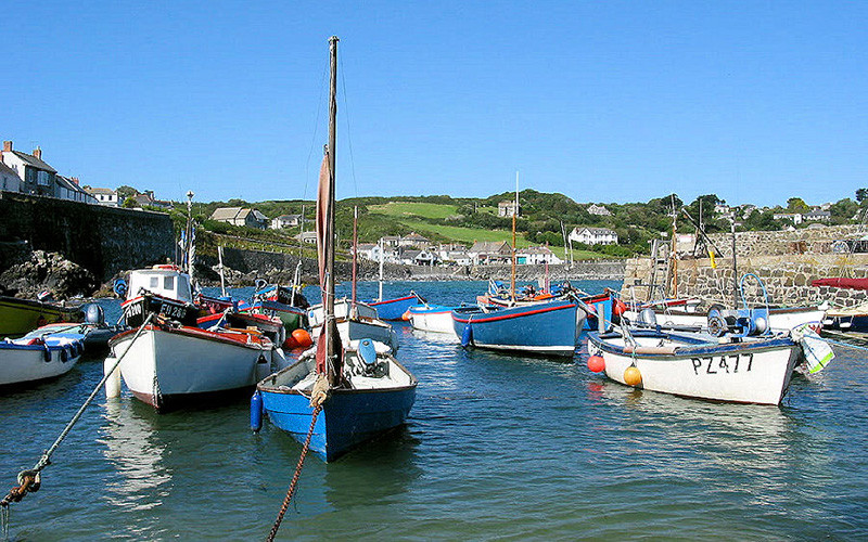 Coverack fishing boats