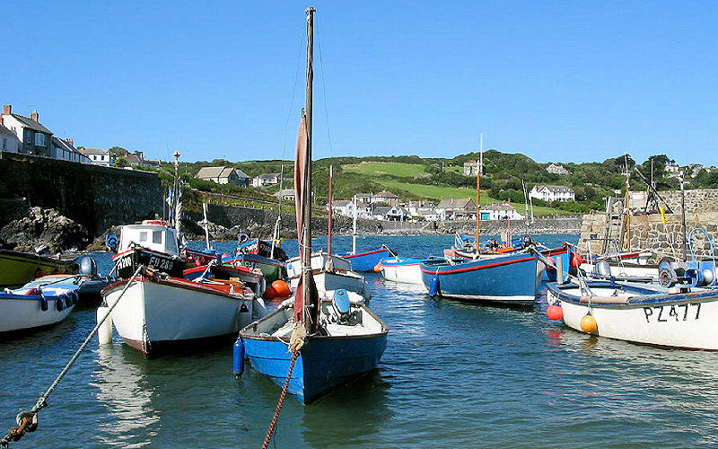 Fishing boats in Coverack Cornwall