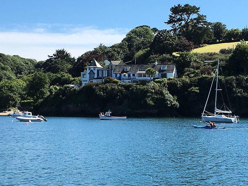 Boats at Gillan in Cornwall