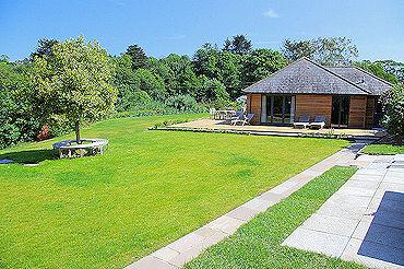 Garden view Cornwall