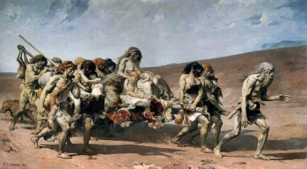 Fernand-Anne Piestre Cormon - Caino fugge prima della maledizione di JHWH