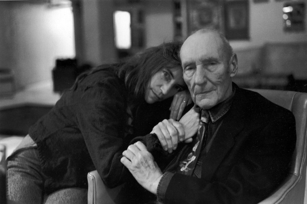William Burroughs con Patti Smith