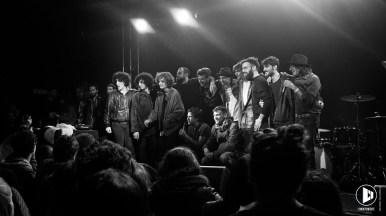I finalisti riuniti sul palco