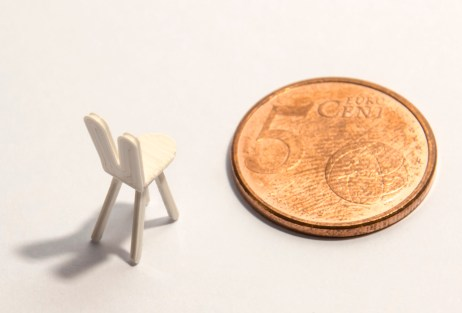 Nakagin Capsule (bunny chair detail) - 1/100th scale - white PLA
