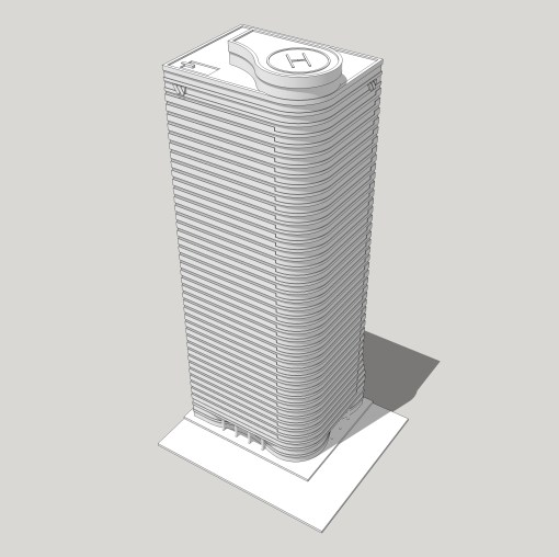 Winch Tower modeled using CAD Software - Modeling time: 3 hours