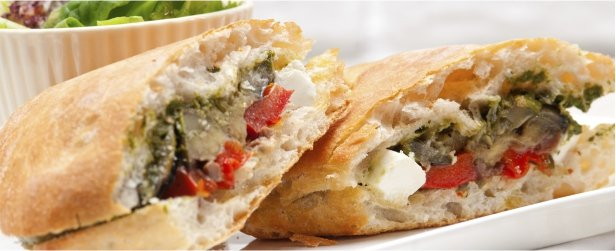 Super Sandwiches for Game Day-Vegetable & Feta-link
