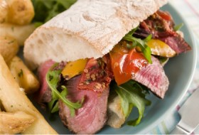 Super Sandwiches for Game Day-steak & peppers