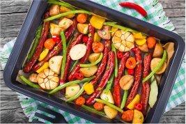 Simple Summer Sausage Bake-in baking pan