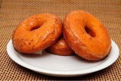 Pumpkin Doughnuts-plate