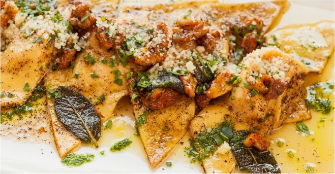 Butternut Squash Ravioli with Browned Sage Butter