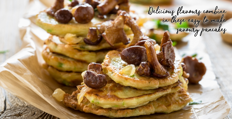 Zucchini Pancakes with Chanterelle Mushrooms-slider