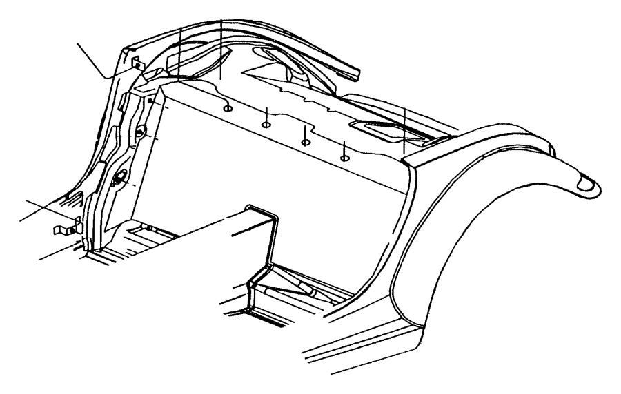 Chrysler Prowler Fuel Filler Housing Bolt. 2003-06, #1