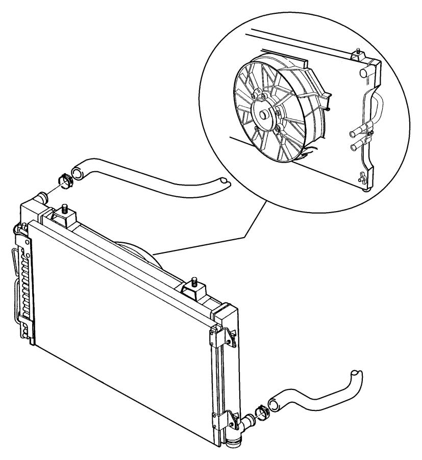 Dodge Stratus Radiator Hose Clamp. LITER, CYLINDER