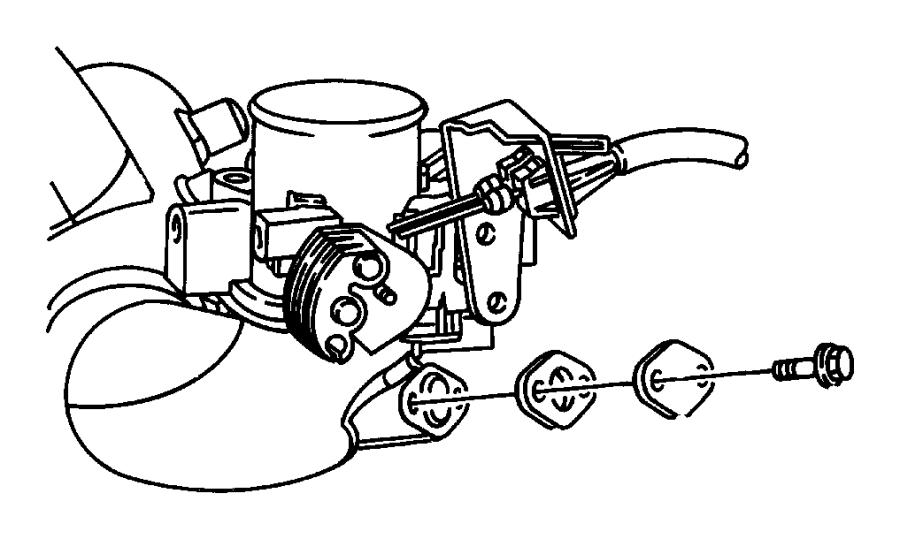 Jeep Wrangler Egr tube gasket. Emission, liter, system