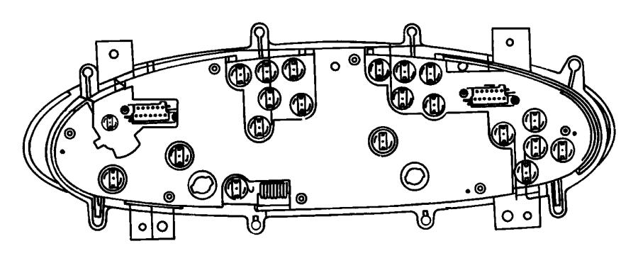 Dodge Caravan Instrument Panel Light Bulb. Socket, CLUSTER