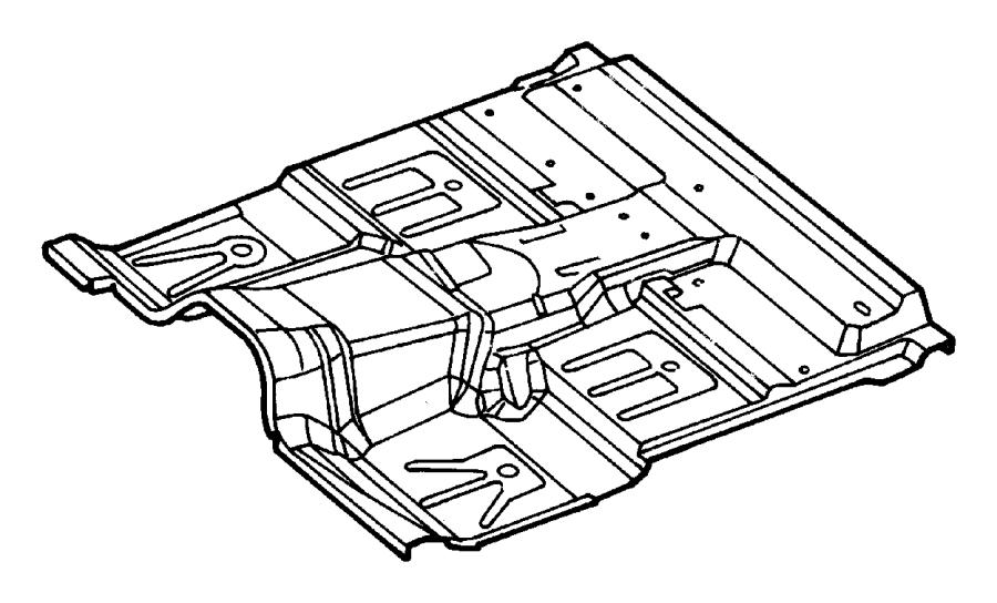 Dodge Dakota Floor Pan. STANDARD CAB, 2WD, auto trans