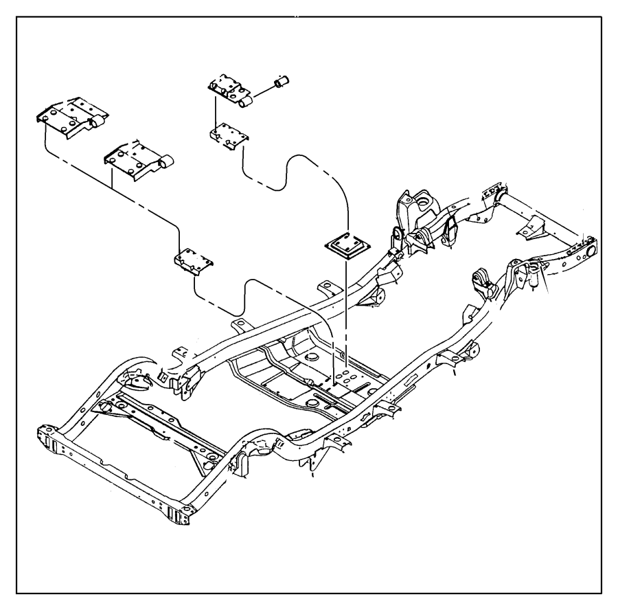 Jeep Wrangler Automatic Transmission Mount. LITER, Series