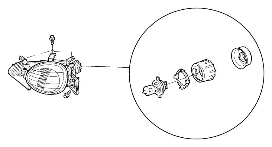 Dodge Dakota Headlight bulb lock ring. COMPOSITE TYPE