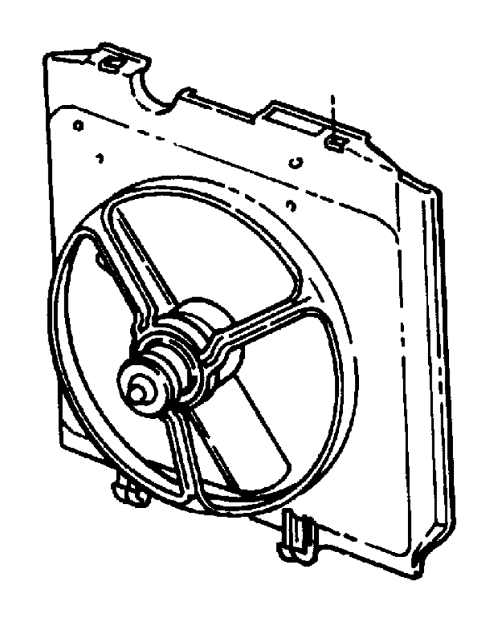 Dodge Dakota Engine Cooling Fan Blade. Stamped, LITER